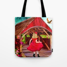 Covered Bridge Painting by Liane Wright Tote Bag