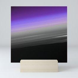 Purple Gray Black Smooth Ombre Mini Art Print