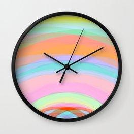 Double Rainbow - Fluor colors - Unicorn dreamers Wall Clock
