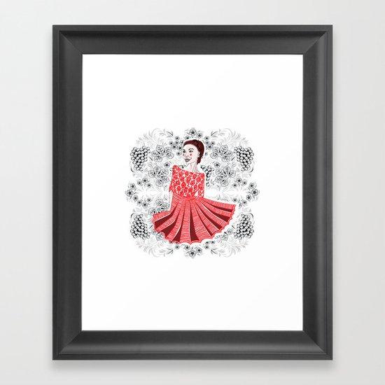 Red Dress Framed Art Print