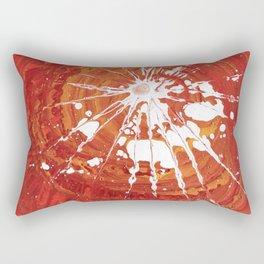 white splash on red Rectangular Pillow