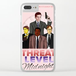 Threat Level Midnight Poster Clear iPhone Case