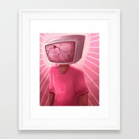 cracked Framed Art Prints featuring cracked. by Zombie Rufio