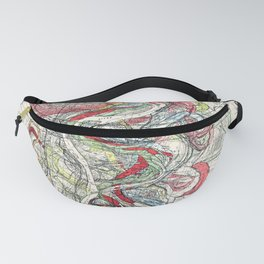Beautiful Vintage Map of the Mississippi River Fanny Pack