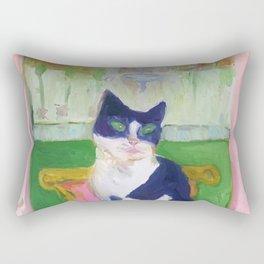 Bunny in Paris Rectangular Pillow
