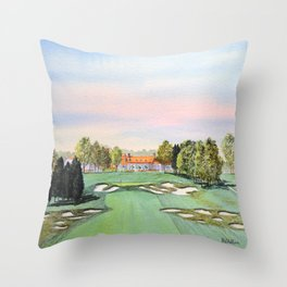 Bethpage State Park Golf Course Throw Pillow