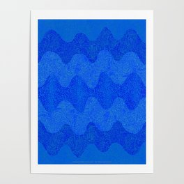 Under the Influence (Marimekko Curves) Feeling Blue Poster