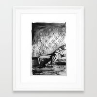 wallpaper Framed Art Prints featuring Wallpaper by Rebekah Robinson