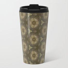 Brown Ancient Circles Pattern Travel Mug