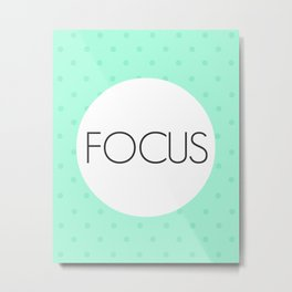 Just Focus Metal Print