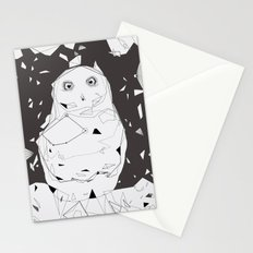 snow owl Stationery Cards