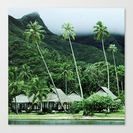 Tropical Paradise In Exotic French Polynesia Canvas Print