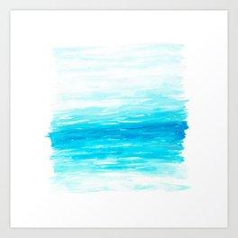 Waves And Oceans Watercolor Art Print