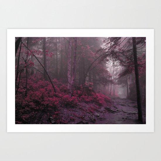 Fantasy Forest #woods Art Print