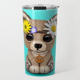 Cute Baby Bear Hippie Travel Mug
