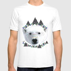 Folk bear Mens Fitted Tee MEDIUM White