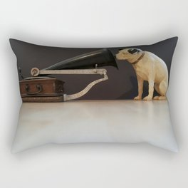 Nipper is listening-His Master's Voice Rectangular Pillow