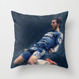 Chelsea's Eden Hazard Throw Pillow