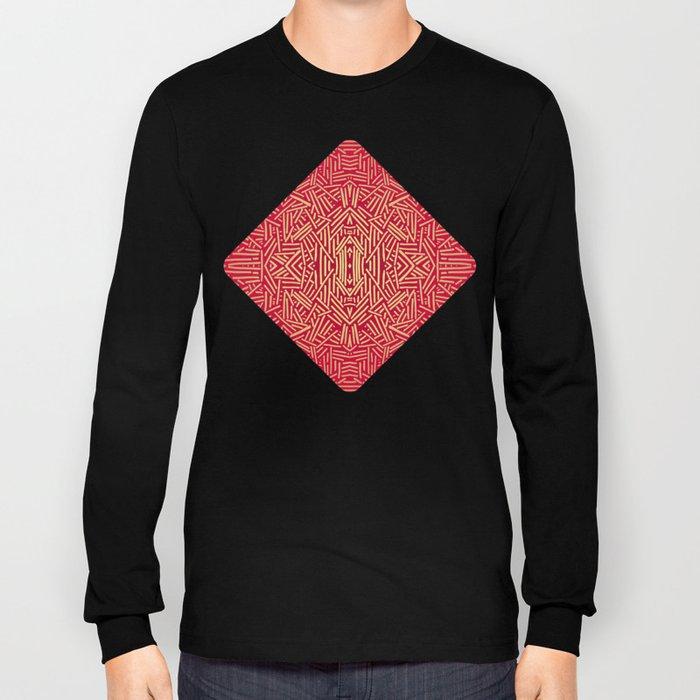 Radiate (Red Yellow Ochre non-metallic) Long Sleeve T-shirt
