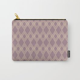 The Bohemian (dusty mauve-cream) Carry-All Pouch