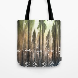 Ombre Forest Tote Bag
