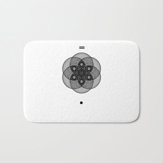 Mesh Geometry II White Bath Mat