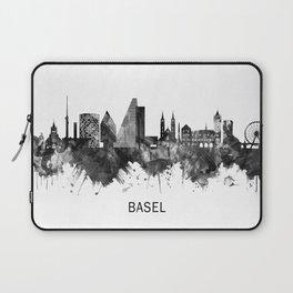 Basel Switzerland Skyline BW Laptop Sleeve