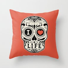 I Love Life Throw Pillow
