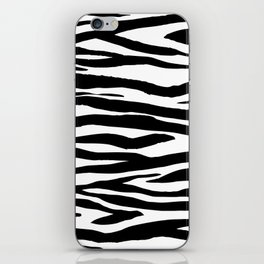 Zebra StripesPattern Black And White iPhone Skin