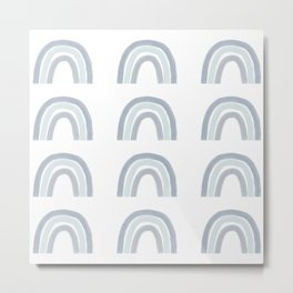 Rainbows, gray neutral palette Metal Print