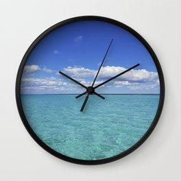 caribbean sea Wall Clock