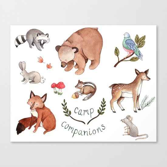 Camp Companions Canvas Print