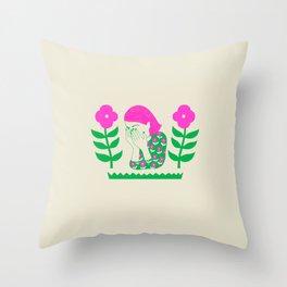 Don't be shy, shy girl, shy, print Throw Pillow