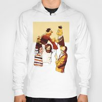 muppets Hoodies featuring Bert & Ernie Muppets by joshuahillustration