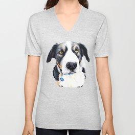 Kelpie Dog Unisex V-Neck
