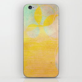 gold clouds and bubbles iPhone Skin