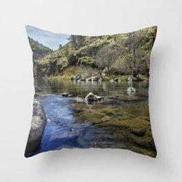Deschutes River below Steelhead Falls Throw Pillow