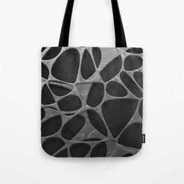 Metal on black, organic abstraction Tote Bag