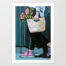 Pink Shoe Day Art Print