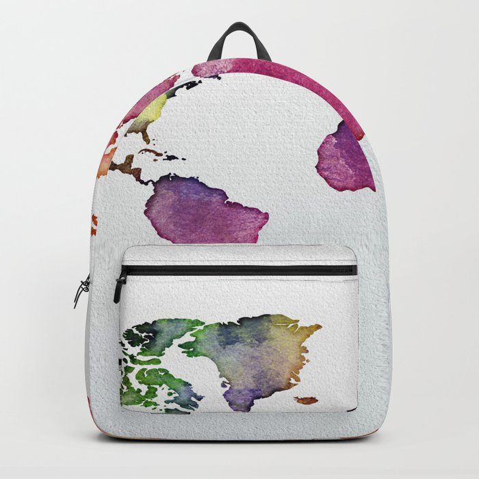 Multicolor World Map 01 Backpack