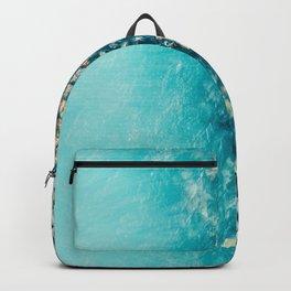 Abstract Turquoise Ocean, Aerial Blue Sea Print, Large Ocean Poster, Coastal Wall Art, Beach Decor Backpack