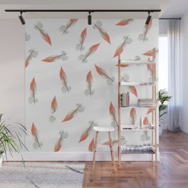 Feathers in Flight Wall Mural