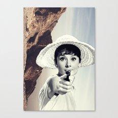 Audrey Hepburn / Mountain Canvas Print