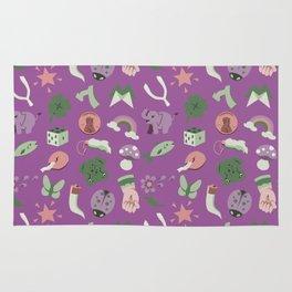 Good Luck pattern in lavender Rug