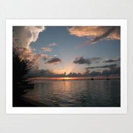 Bimini Bay Art Print