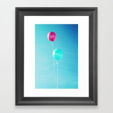 Happy Balloons Framed Art Print