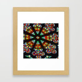 Stained Glass Window Framed Art Print