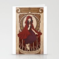 subaru Stationery Cards featuring Little Red Riding Hood by Subaru