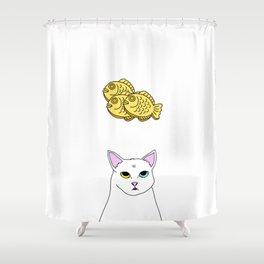 Fat D. Loves Taiyaki Shower Curtain