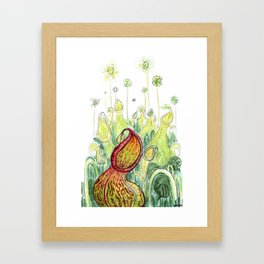 Pitcher Plants Framed Art Print